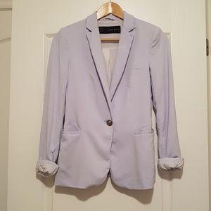 2/$20 Zara woman jacket blazer XS light blue